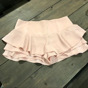 Zara • Crepe Ruffled Shorts